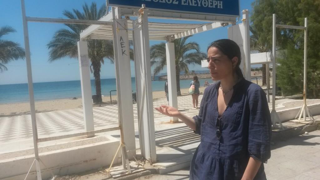 Vatavali am öffentlichen Hellinikon-Strand